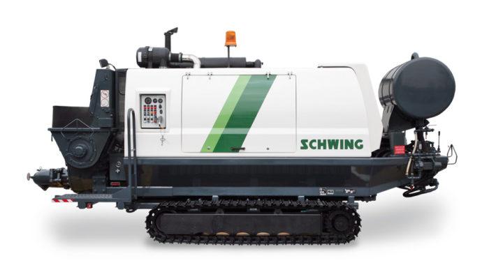 Stationaere-Betonpumpe-SCHWING-SP-1800-auf-Kettenfahrgestell